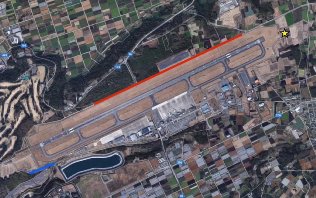 全方位ド迫力の飛行機、熊本空港...
